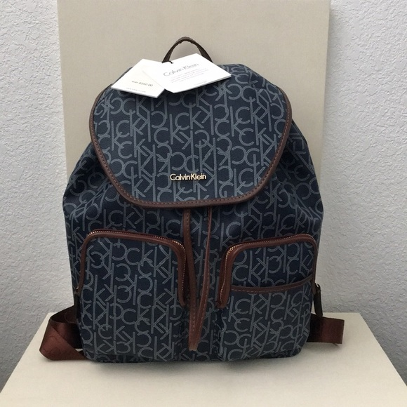 9e33122195 Calvin Klein Bags | Nwt Signature Luggage Backpack Blue | Poshmark